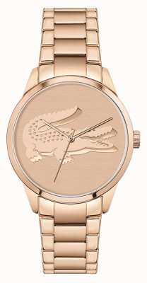 Lacoste Ladycroc | pulseira feminina de aço ouro rosa | mostrador de ouro rosa 2001172