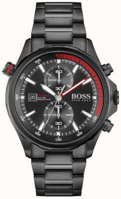 BOSS | globetrotter | cronógrafo | mostrador preto | pulseira de aço pvd preto | 1513825