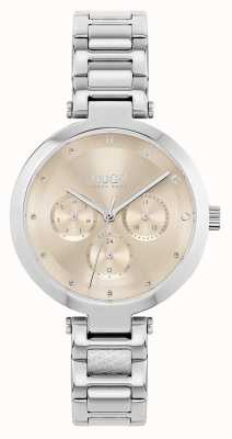 HUGO #hope multi | pulseira de aço inoxidável para senhora | mostrador de ouro 1540088