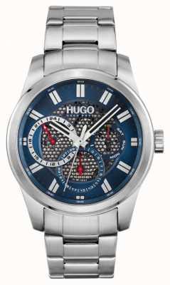HUGO #skeleton | pulseira de aço inoxidável para homem | mostrador azul 1530191