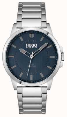 HUGO #first | pulseira de aço inoxidável para homem | mostrador azul 1530186