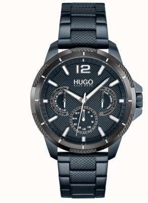 HUGO #sport | pulseira de aço ip azul para homem | mostrador azul 1530194