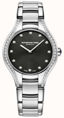 Raymond Weil Noemia | pulseira de aço inoxidável para senhora | mostrador de diamante 5132-STS-20081