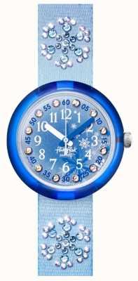 Flik Flak Frozilicious   pulseira de tecido de cristal azul   mostrador azul FPNP073