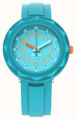 Flik Flak Aqualicious | pulseira de silicone azul aqua | aqua dial FCSP100