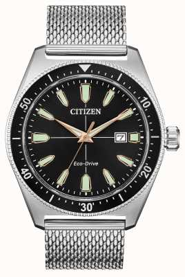 Citizen Brycen masculino eco-drive de aço inoxidável AW1590-55E