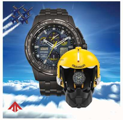 Citizen Eco-drive masculino promaster skyhawk blue angels JY8097-58L