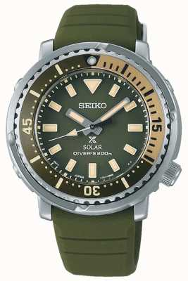 Seiko Prospex | pulseira de silicone verde | mostrador verde SUT405P1