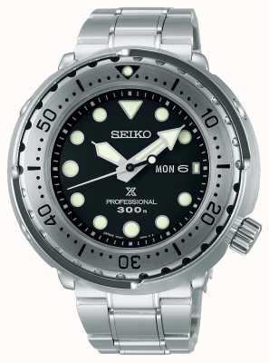 Seiko Prospex | atum | 300m | pulseira de aço inoxidável | mostrador preto S23633J1