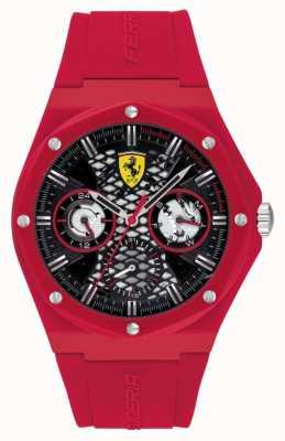 Scuderia Ferrari Aspire | pulseira de silicone vermelha | mostrador preto 0830786
