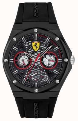 Scuderia Ferrari Aspire | pulseira de silicone preta | mostrador preto 0830785