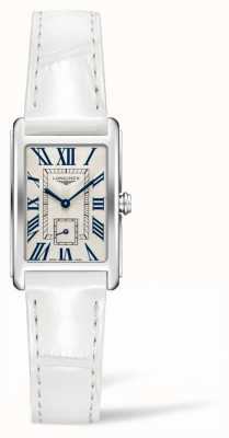 Longines Dolcevita elegância contemporânea | couro branco para senhora | quartzo suíço L52554712