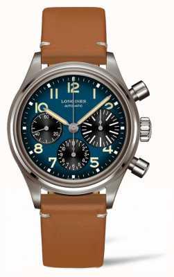 Longines Heritage | avigation bigeye | pulseira de couro marrom L28161932
