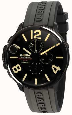 U-Boat Capsoil 45 dlc crono / c pulseira de borracha preta 8109/C