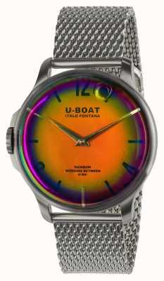 U-Boat Pulseira de arco-íris 44 mm laranja ss em metal 8469/MT