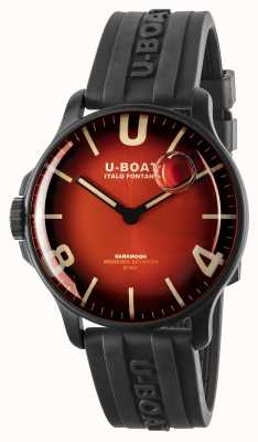 U-Boat Darkmoon 44 mm vermelho cardinal ipb / pulseira de borracha 8697