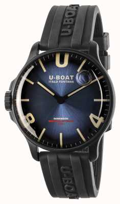 U-Boat Darkmoon 44 mm azul imperial ipb / pulseira de borracha 8700