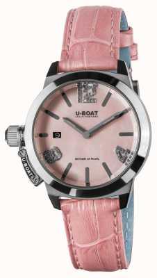 U-Boat Pulseira de couro rosa Classico 38 8480