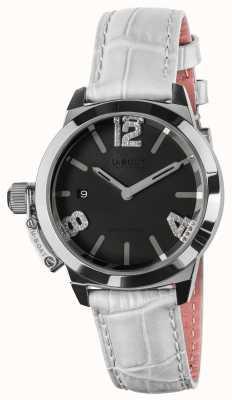 U-Boat Classico 38 pulseira de couro branco com mostrador preto 8482