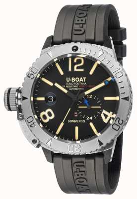 U-Boat Sommerso / um relógio com pulseira de borracha preta 9007/A