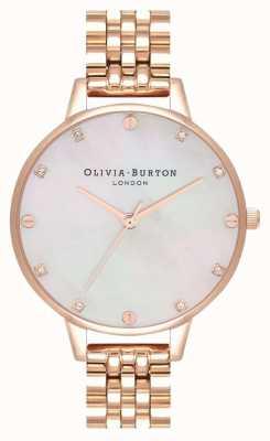 Olivia Burton Pulseira demi blush mop ouro rosa OB16SE15