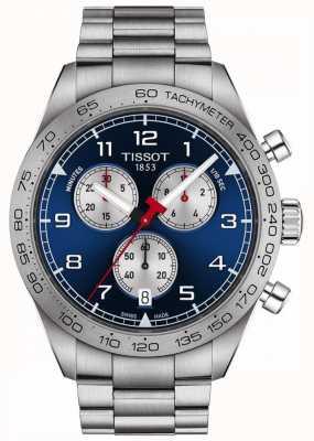 Tissot Prs 516 | cronógrafo | mostrador azul | pulseira de aço inoxidável T1316171104200