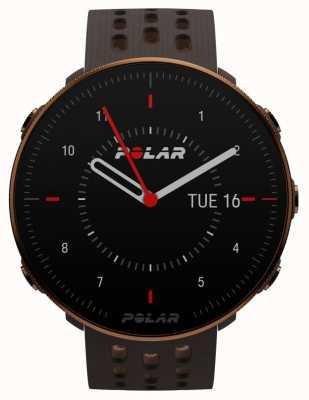 Polar Vantage m2 | pulseira de silicone marrom | caixa de cobre | 90085163