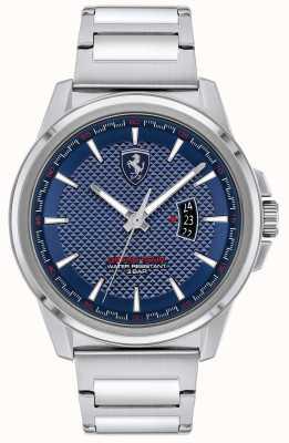 Scuderia Ferrari Grande tour dos homens | pulseira de aço inoxidável | mostrador azul 0830835