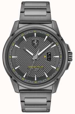 Scuderia Ferrari Grande tour dos homens | pulseira em aço ip cinza | mostrador cinza 0830836