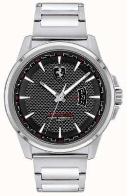 Scuderia Ferrari Grande tour dos homens | pulseira de aço inoxidável | mostrador preto 0830834