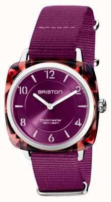 Briston Clubman chic | mostrador cardinal de 36 mm em ouro rosa | pulseira de nato cardinal 21536.PRA.UR.32.NC