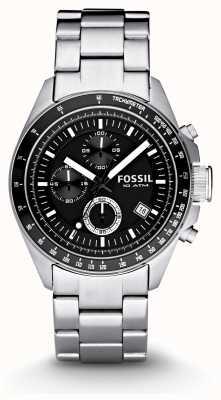 Fossil Mens relógio de moda cronógrafo de prata CH2600IE