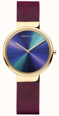 Bering Classic | mulheres | malha roxa | mostrador multicolorido 19031-929