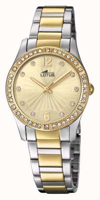 Lotus Pulseira feminina para relógio de ouro e prata L18384/1