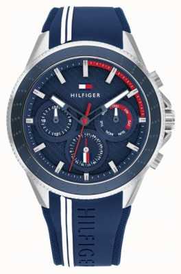Tommy Hilfiger | homens | Alden | mostrador azul | pulseira de borracha azul | 1791859