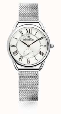Michel Herbelin Equinoxe | mostrador prateado | pulseira de malha de aço inoxidável 18397/08B