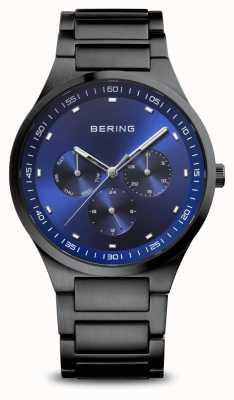 Bering Classic | homens | escovado preto | mostrador azul 11740-727