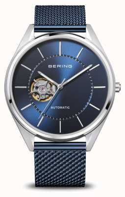 Bering Automático | homens | prata polida / escovada | mostrador azul 16743-307