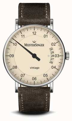 MeisterSinger Homens | vintago | camurça | pulseira de couro MEISTERSINGER VT903- SV02