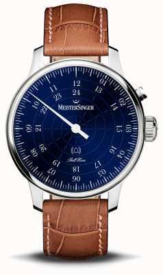 MeisterSinger Bell hora, mostrador azul do 20º aniversário BHO908