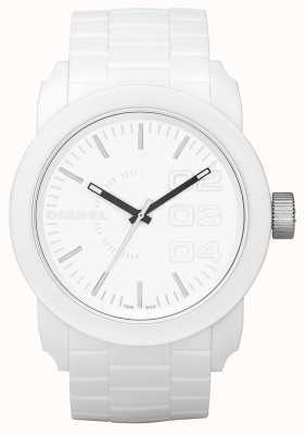 Diesel Relógio de discagem branco unisex DZ1436