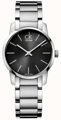 Calvin Klein Estojo de aço inoxidável para mulheres da cidade K2G23161