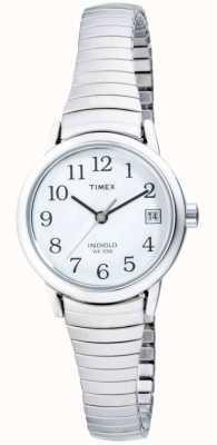 Timex Relógio expansível de aço inoxidável para mulher T2H371